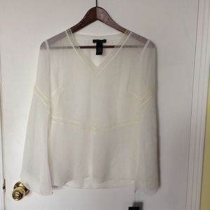 Kenneth Cole Boho Chic Flowy Shirt